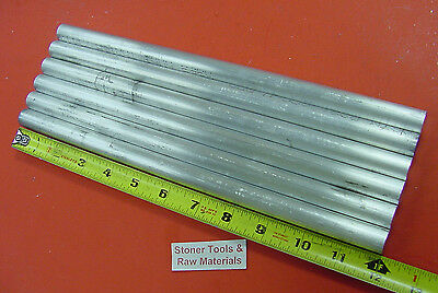 "6 pieces 5/8"" ALUMINUM 6061 ROUND ROD SOLID BAR 12"" long .625"" Lathe Stock"