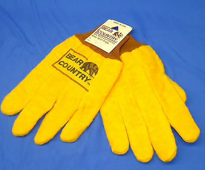 Vintage 1980s New W/ Tags Bear Country Big Bear Stores Work Winter Gloves A135
