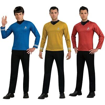 Starfleet Uniforms Adult Star Trek Costume Shirts Fancy Dress