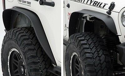 2007-2017 Jeep Wrangler & Unlimited XRC Metal Fender Flares Set of Four in Black