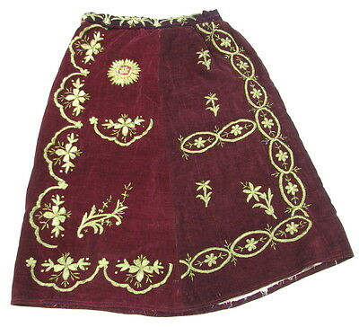 Antique Turkish Ottoman Costume Hand Embroidered Sarma Skirt Dress Jupe Robe >>