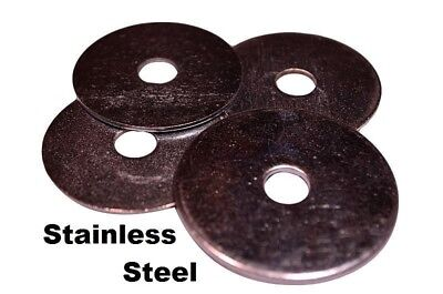 "Stainless Steel Fender Washers  1/4"" x 1-1/2"" (50 pcs)"