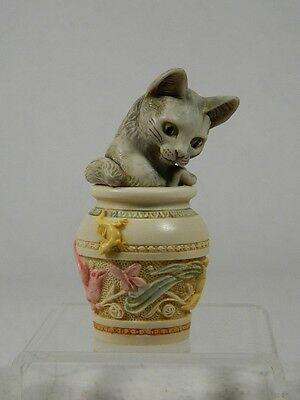 Harmony Kingdom 'Jardinia'  #TJDLCA5 V-1  Wonderful Cat In Jar  Retired  NIB