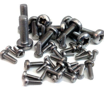 M4 (4mm) A2 STAINLESS MACHINE SCREW POZI PAN HEAD POZIDRIVE BOLTS POSI  DIN7985