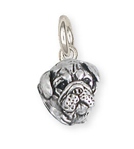 Solid Sterling Silver Bulldog Charm Jewelry BD28H-C