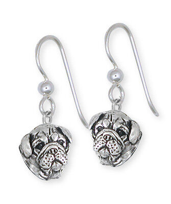 Solid Sterling Silver Bulldog Earring Jewelry BD28H-E