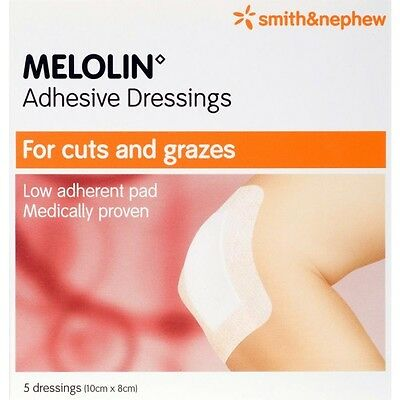 Melolin Adhesive 10Cmx8Cm (5 Dressing)