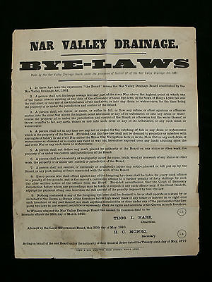 Norfolk 1910 Nar Valley Drainage Bye-Laws Poster