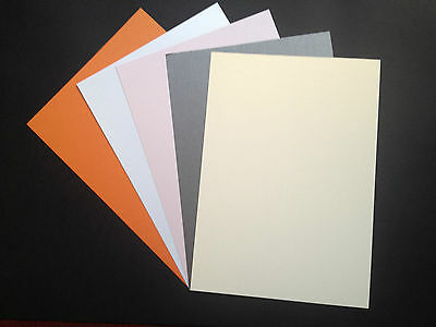 50 x A4 Pearlescent Card 260gsm Shimmer Centura Pearl *9 Colours* ~ Double Sided