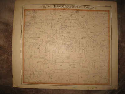 ANTIQUE 1874 ROOTSTOWN AURORA TOWNSHIP PORTAGE COUNTY OHIO MAP w LITHO PRINT NR