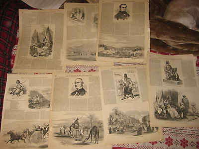 Large Lot Of 15 Antique 1855 Orientalist Arabia Persia Turkey Turkish Print Nr