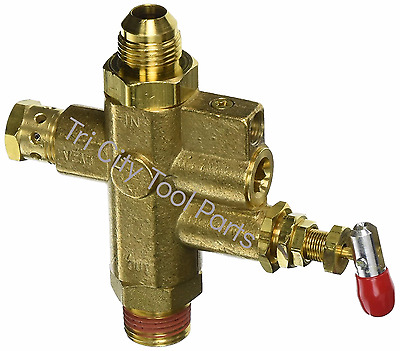 18063 Ridgid Air Compressor Unloader Valve  With Flare Fitting  GP90135 GP90135A