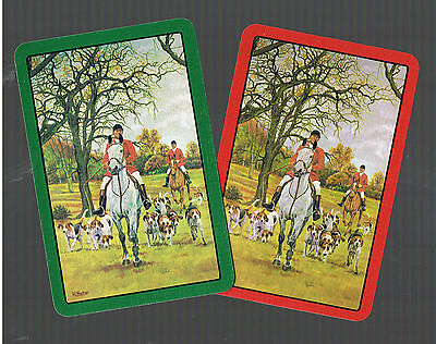 Playing Swap Cards  3  BRITISH  VINT HORSES  HUNTING  DOGS /& RIDERS  W421