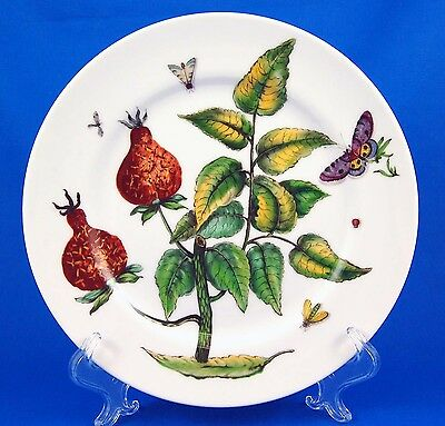 Mottahedeh THE EXOTIC PLANT (Floral D) Luncheon Plate 9.25 in. Various Floral
