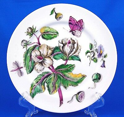 Mottahedeh THE EXOTIC PLANT (Floral A) Luncheon Plate 9.25 in. Various Floral