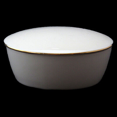 Lenox Trinket Box With Lid Ivory Gold Rim Made In Usa