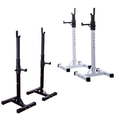 Heavy Duty Weights Bar Barbell Squat Stand Stands Spotter GYM Fitness Power Rack