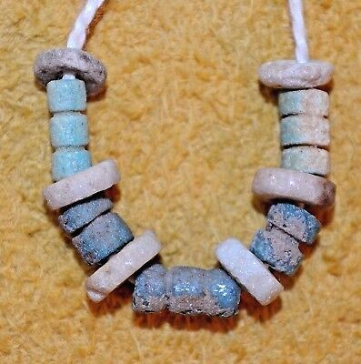 Ancient Excavated Egyptian Faience Dig Beads - Small Set