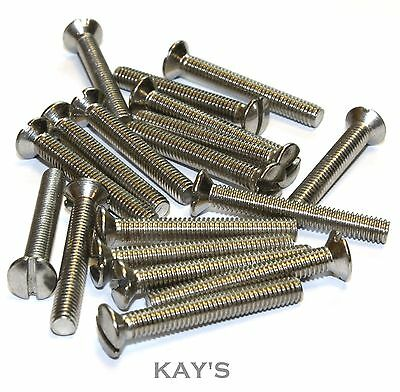 M4 (4mmØ) RAISED SLOTTED COUNTERSUNK MACHINE SCREWS A2 STAINLESS STEEL CSK BOLTS