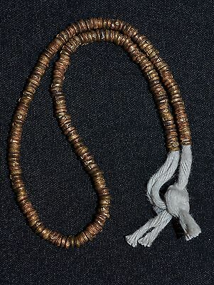 Set Of Small Ethiopian Handmade Copper Metal Heishi Beads From Africa