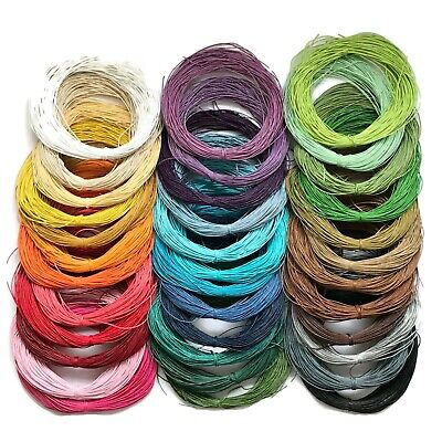 Waxed Cotton 1mm Cord - Shamballa, Macrame, Jewellery wax - 1 to 400 mtr  (2E,D)
