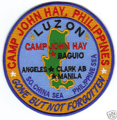 USAF BASE PATCH, CAMP JOHN HAY, BAGUIO PHILIPPINES, GONE BUT NOT FORGOTTEN     Y