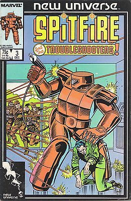 Spitfire & The Troubleshooters #3, #4, & #5 (1987) Marvel Comics V/g+