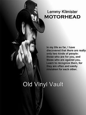 Motorhead-Lemmy Kilmister Quote - A3 size Poster Print
