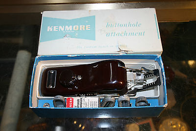 WOW Vintage Kenmore Buttonhole Attachment Electric Sewing Machine Complete w/box
