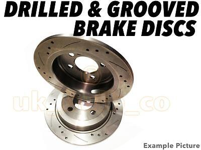 Drilled & Grooved FRONT Brake Discs SMART FORTWO Cabrio 1.0  (451.431) 2007-On