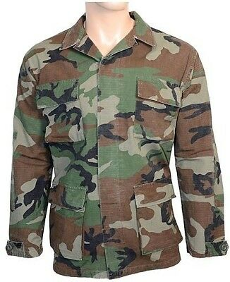 aa5c6a620cfe72 Woodland Camo Ripstop Field Jacket - Army Military BDU 100% Cotton All  Sizes New
