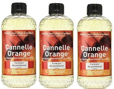 3 PARFUM INTERIEUR ORANGE CANNELLE LAMPE DIFFUSEUR CATALYSE huiles essentielles