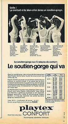 PUBLICITE ADVERTISING 1965 PLAYTEX soutien gorge 5 raisons de confort a17d4967874