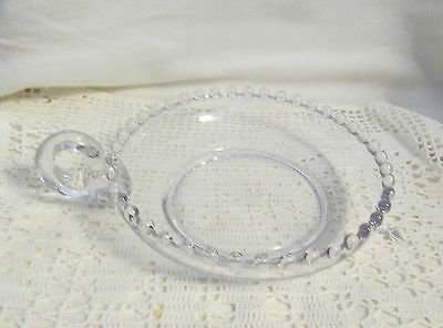 """VINTAG IMPERIAL CANDLEWICK 6"""" DIA ONE HANDLED NAPPY.. EXC"""