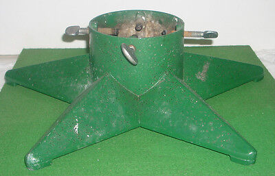 Vintage Green Cast Aluminum Star Christmas Tree Stand