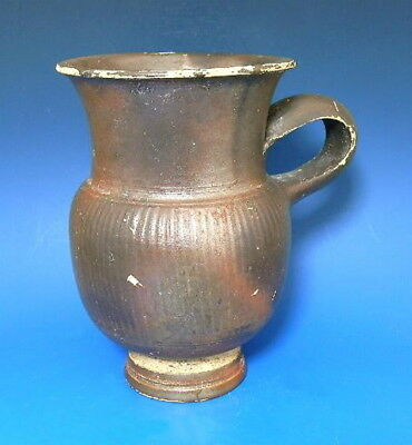Greek South Italian Black Glazed Thistle Mug (G525)