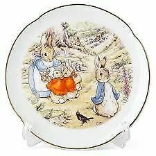 Peter Rabbit & Family-Porcelain Decorative Wall Plate & Stand-Reutter Porzellan