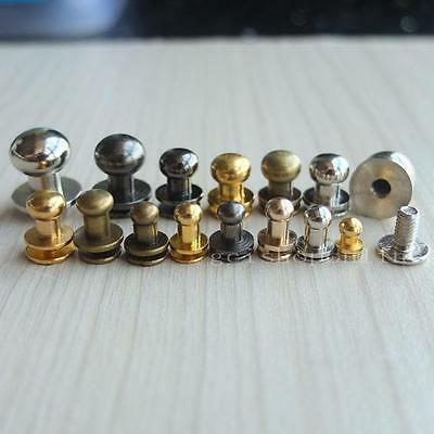 5 10 20 50 Head Button Stud Screwback for Leather Craft Bag Screw Chicago nail C