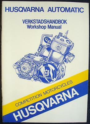 HUSQVARNA COMPETITION MOTORCYCLES - Engine Workshop Manual - #15 17 899-01 1.5..