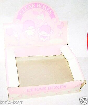 LITTLE TWIN STARS 1986 Sanrio Japan Clear box stand store - scatola espositore