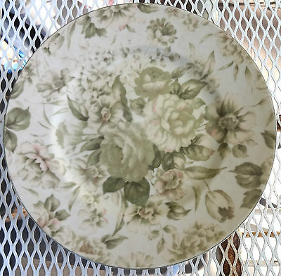 PTS International Interiors Antique Rose Stoneware Dinner Plate