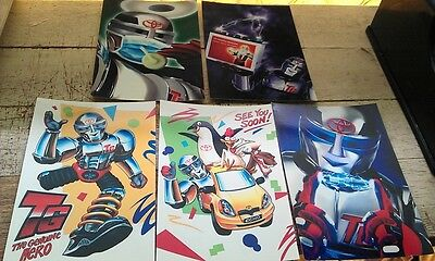 5 x TOYOTA GENUINE PARTS Postcards - Genuine Hero Robot NOS