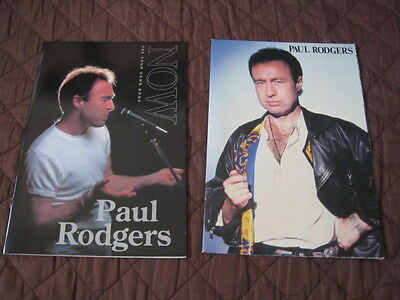 Paul Rodgers Tour Song Book with 1996 Japan Tour Program Poster Free Bad Company