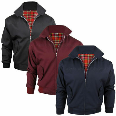 Kids Classic Harrington jacket Vintage Retro style MODs Skins Tartan Lining Boys