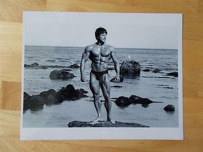 Mr Olympia Bodybuilder FRANK ZANE muscle bodybuilding 8 X 10 black & white photo