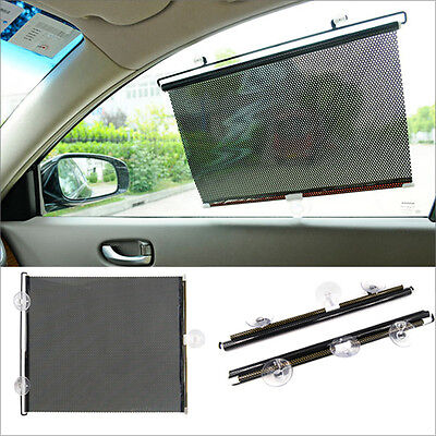 2 x Car Window Sun Shade Roller Blind Screen Protector Large Protection Children