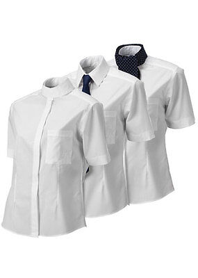 Equetech Ladies Horse Riding Peplum Training Competition Shirt Size 16 White