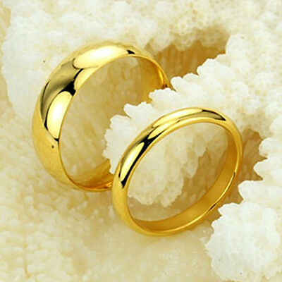 R014 Titanium Steel Promise Ring Lovers Couple Wedding Bands GIFT whlolesale