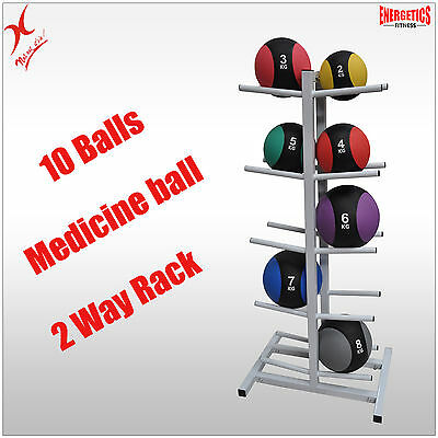 Medicine Ball Rack - Double Side Medicine Ball Stand Store Up To 10 Balls