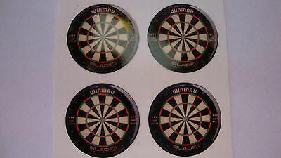 "12 Dart Board Stickers 1"" Crown Green Bowls Lawn Bowls Flatgreen  Indoor Bowls"